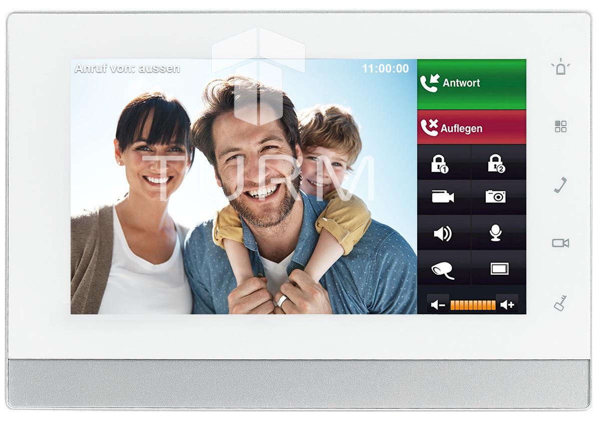 """IP-Video-Türsprechanlage 7"""" für das Einfamilienhaus Innenstation LCD Monitor"""