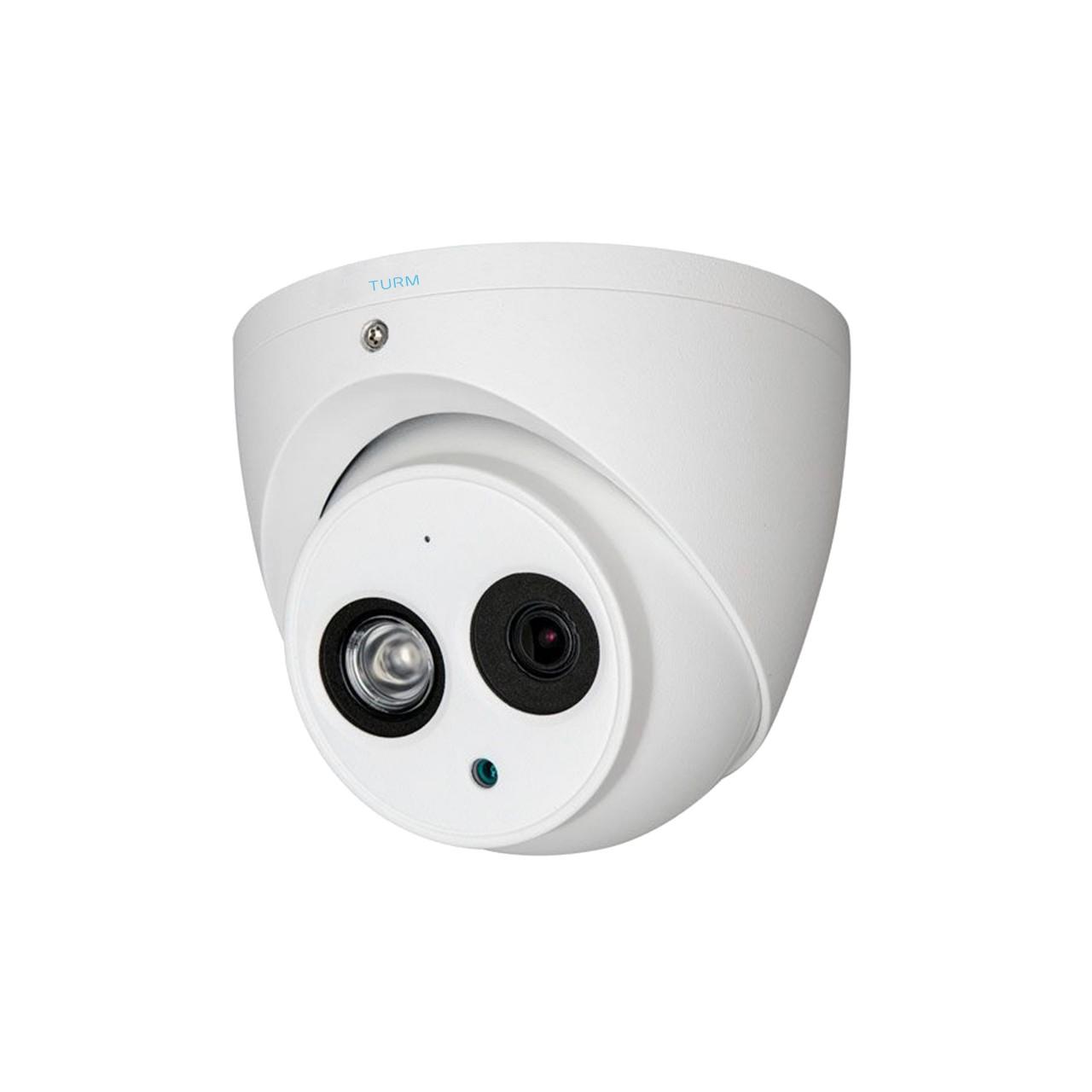 TURM HDCVI Lite 2 MP Eyeball Kamera, 50m Nachtsicht, 2.8mm Objektiv, 103° Blickwinkel, Audio