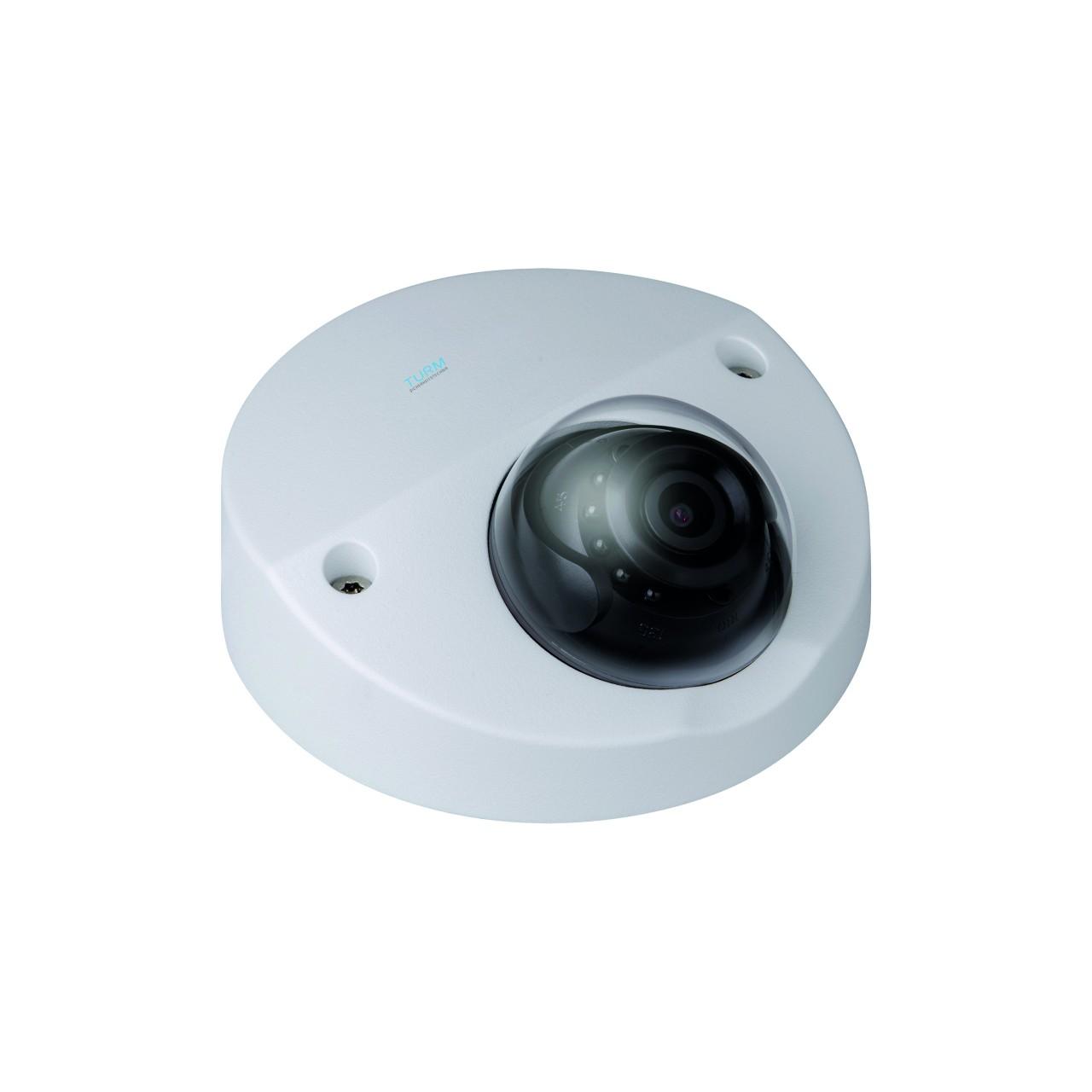TURM HDCVI Professional 2 MP Dome Kamera mit Mikrofon, 20m Nachtsicht, Starlight, 2.8mm Objektiv mit