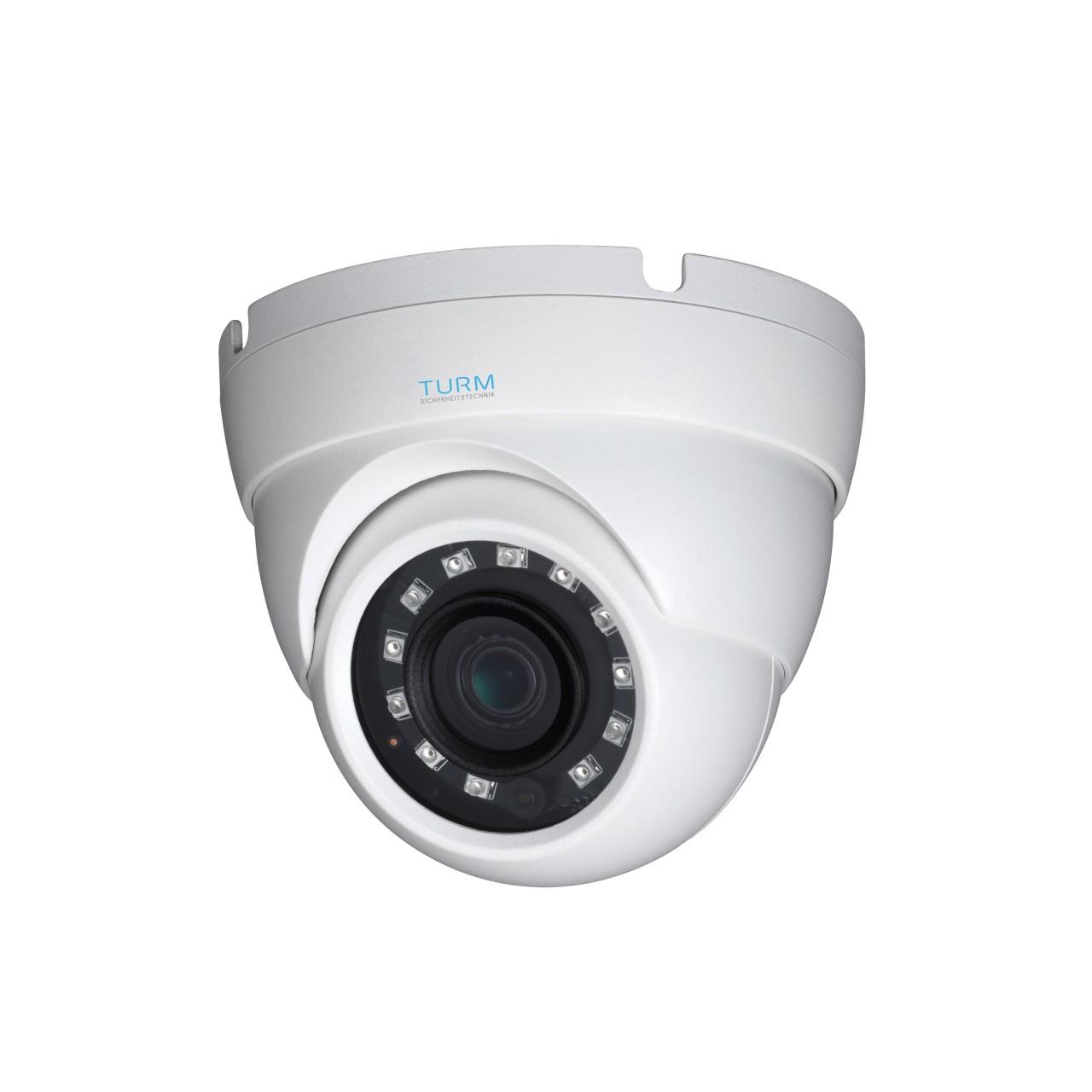 TURM HDCVI Lite 1 MP Dome Kamera, 30m Nachtsicht und 2,8mm Objektiv mit 84° Blickwinkel