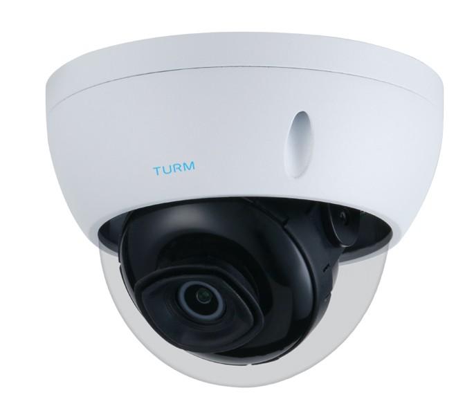 TURM IP Lite 4 MP Dome Kamera mit 30m Nachtsicht, 102° Blickwinkel, WDR, PoE und H.265