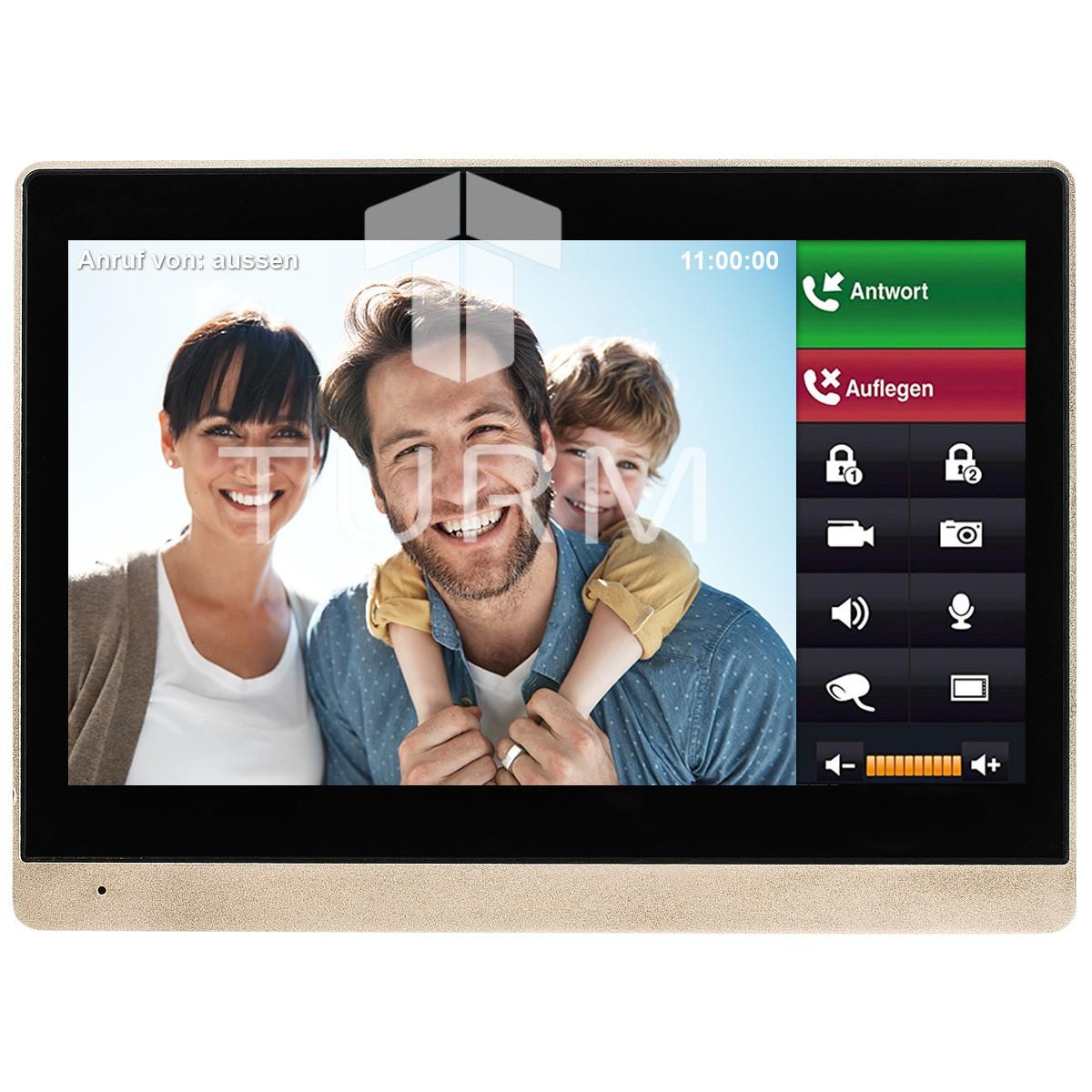 """10"""" LCD Innenstation Monitor für IP-Video-Türsprechanlage für das Einfamilienhaus"""