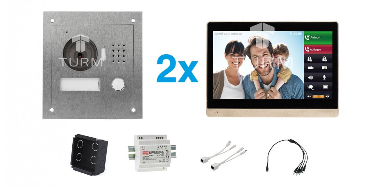 """IP Netzwerk-Video-Türsprechanlage mit 10"""" LCD für das Einfamilienhaus"""