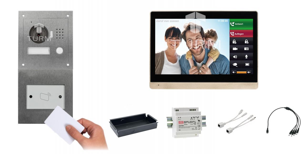 """IP Netzwerk-Video-Türsprechanlage mit 10"""" LCD für das Einfamilienhaus + RFID Modul"""