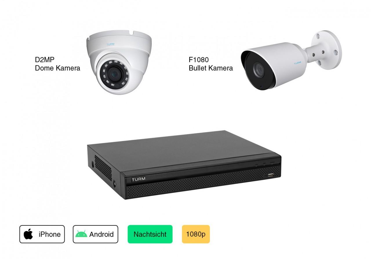 Videoüberwachung Set Konfigurator 2MP