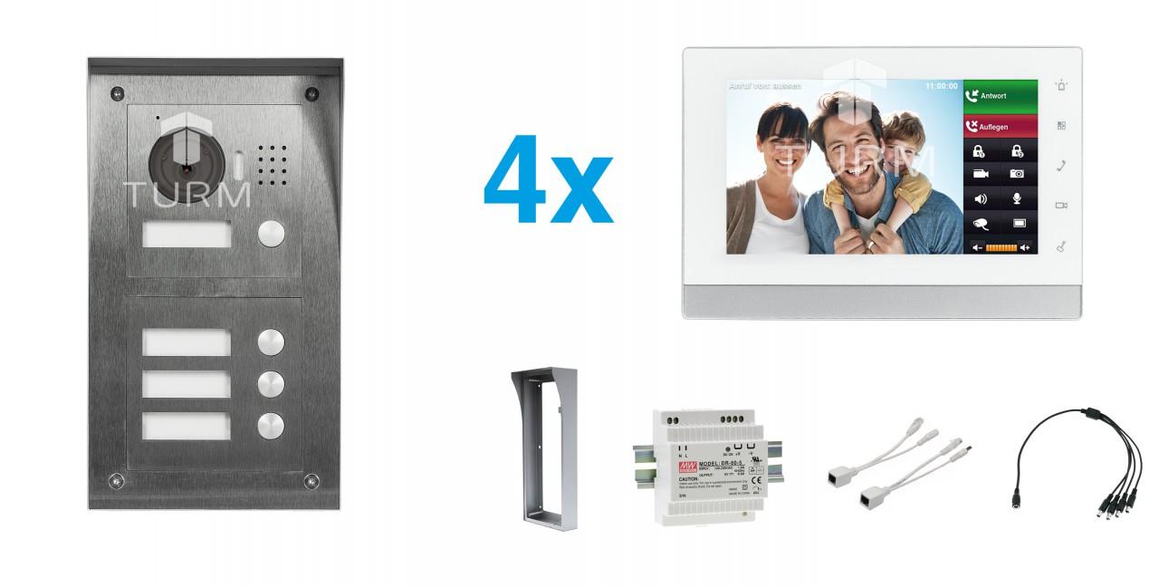 """IP Netzwerk-Video-Türsprechanlage mit 7"""" LCD für das Mehrfamilienhaus"""