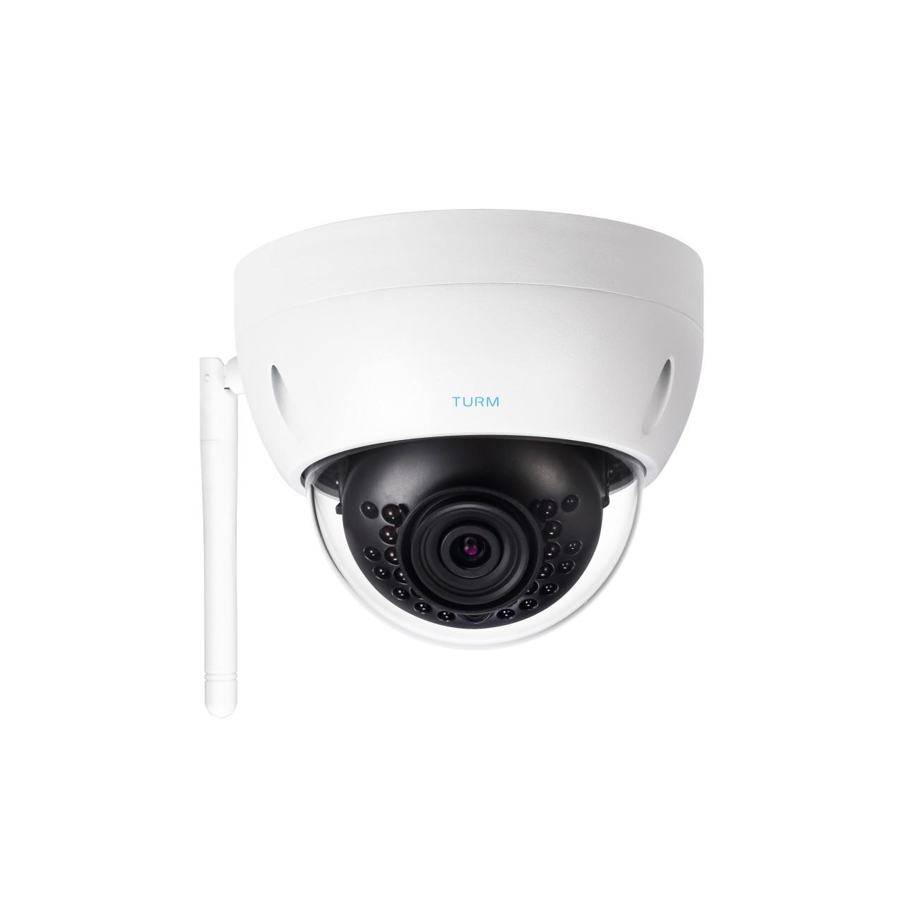 TURM WLAN 4 MP IP Dome Kamera mit 101°, 2.8mm, Micro SD Slot, 30m Nachtsicht für Außen
