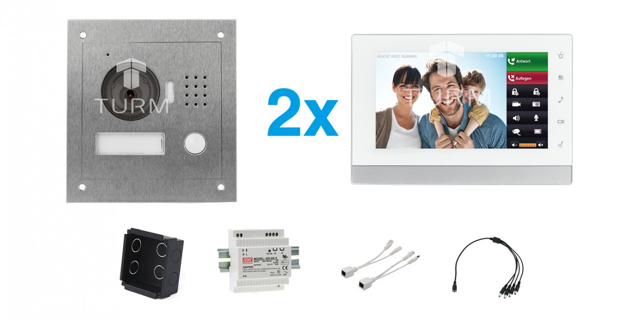 """IP Netzwerk-Video-Türsprechanlage mit 7"""" LCD für das Einfamilienhaus"""