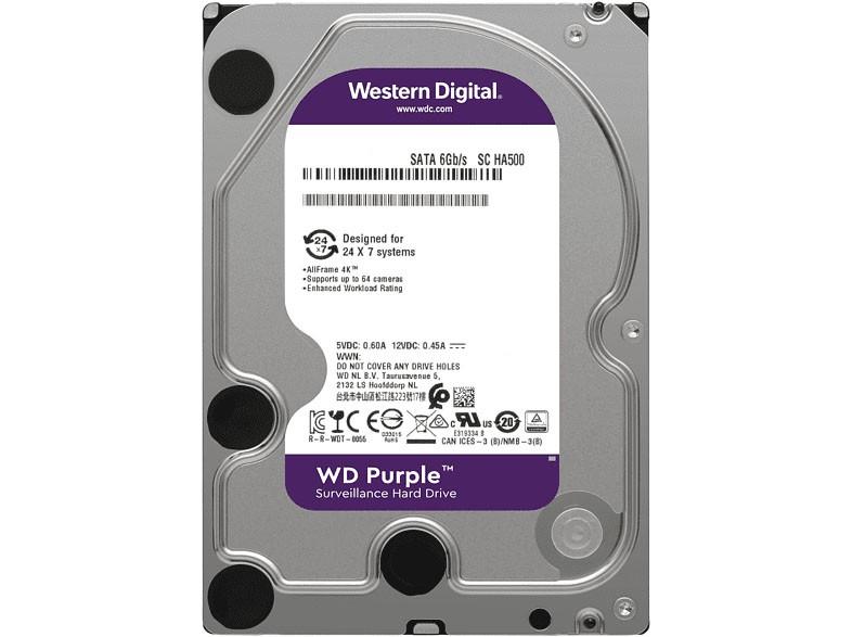 "Western Digital Purple 4 TB, 3,5"", 5400 U/min, Dauerbetrieb bei Videoüberwachung"