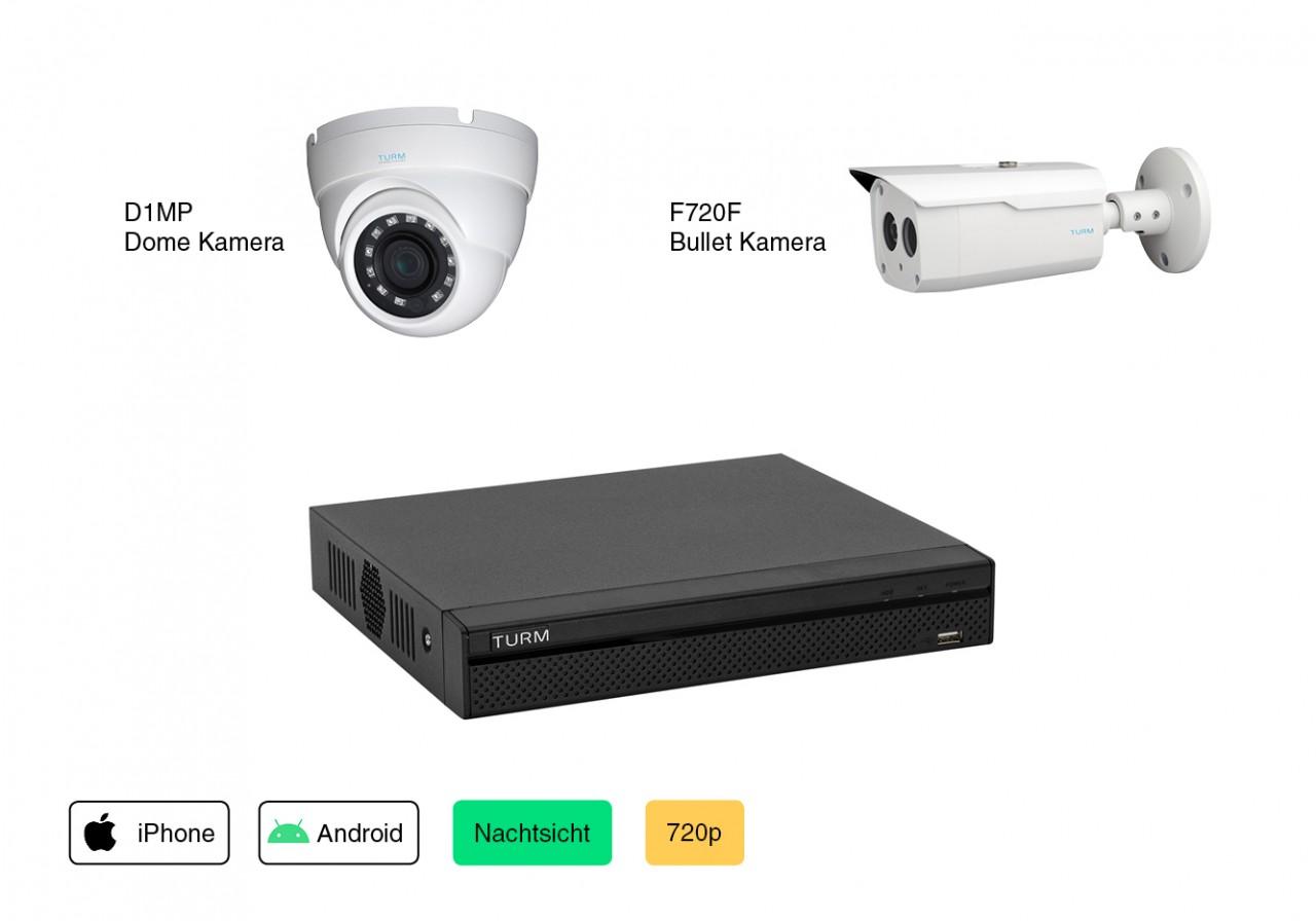 Videoüberwachung Set Konfigurator 1MP